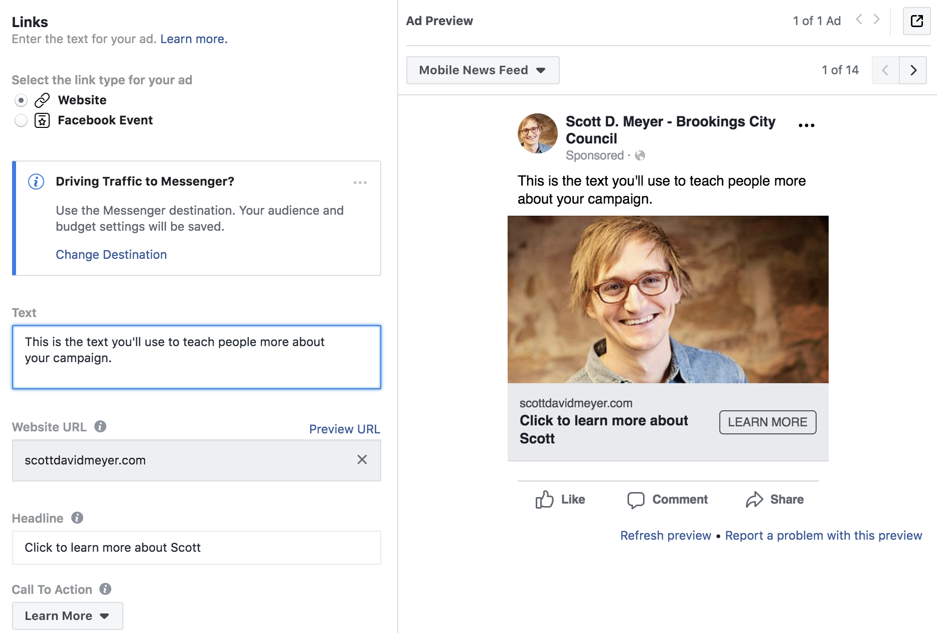 facebook ad builder for campaigns