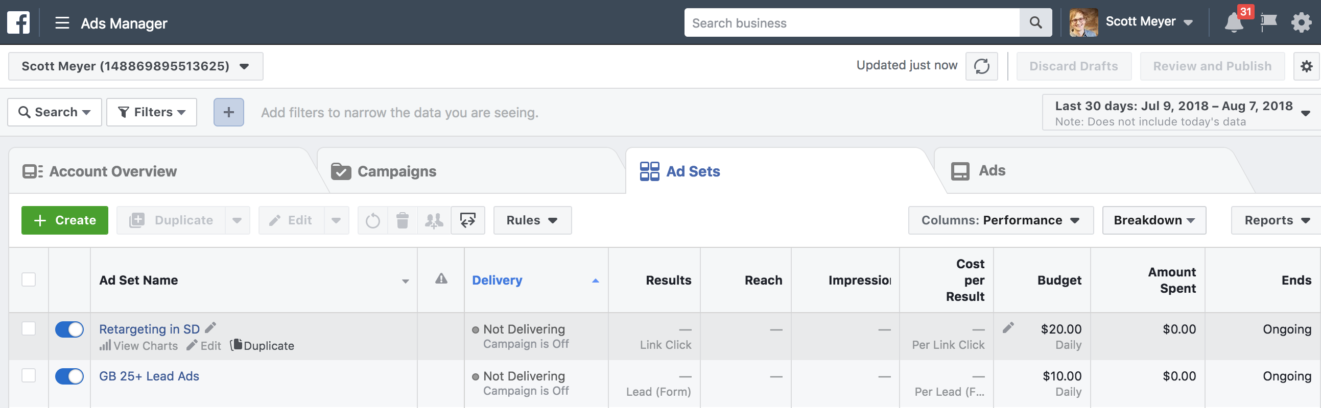 duplicating ads on facebook