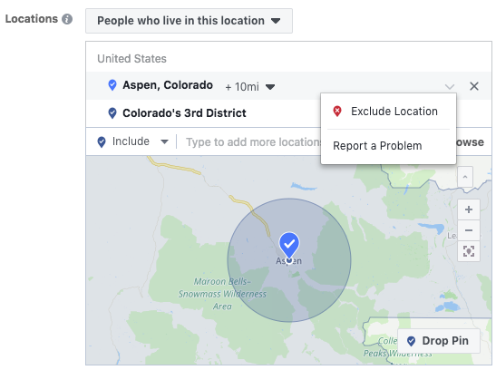 negative targeting for political campaigns on facebook